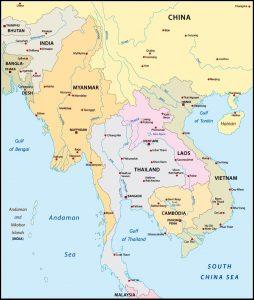 Karte Südostasien